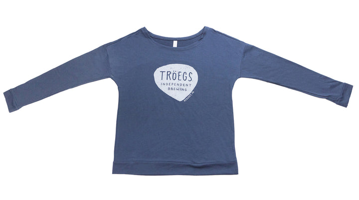 Tröegs Logo Women's Long Sleeve Navy