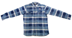 Troegs Blue Plaid Flannel Shirt