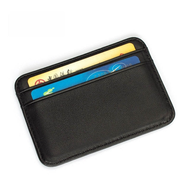 Genuine Leather Credit Card Case Mini ID Card Holder Small Purse For Man Slim Men's Wallet Cardholder