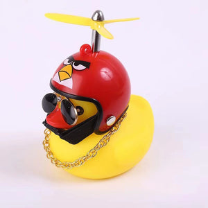 5Pcs Cute Helmet Rubber Little Yellow Duck
