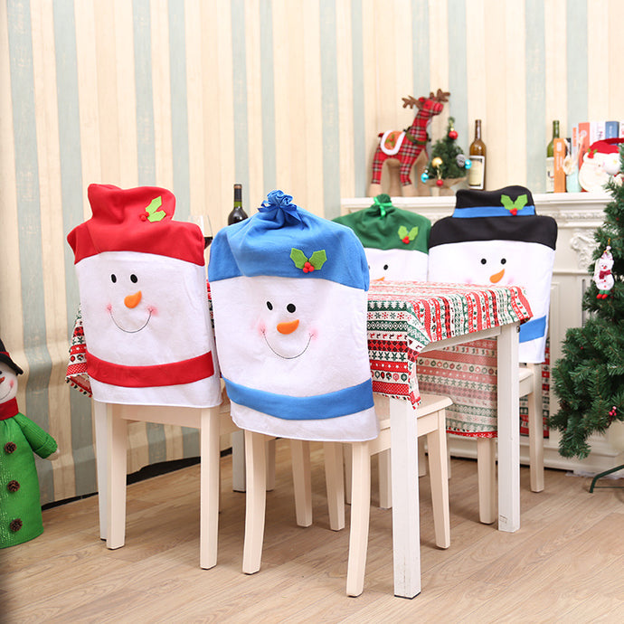 Warm Christmas Chair Back Covers Mat