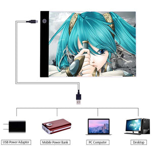 A4 LED Drawing Tablet can use in different device