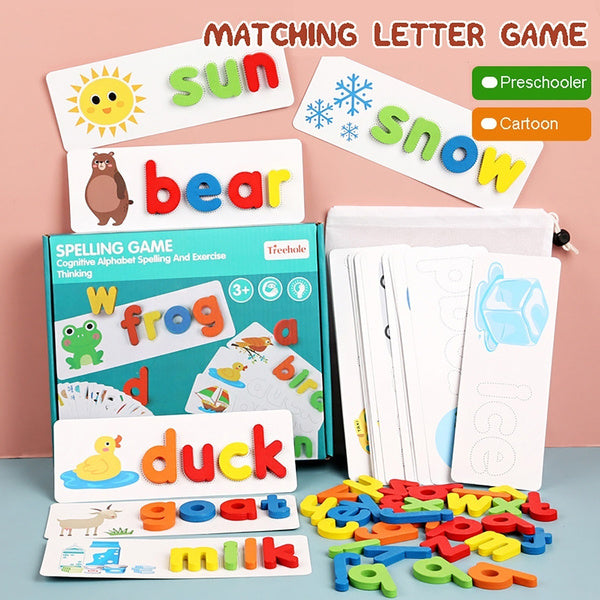 Children's Puzzle Wooden Spelling Word Game