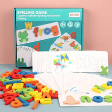 Load image into Gallery viewer, Children's Puzzle Wooden Spelling Word Game
