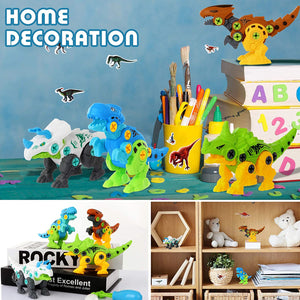 Assemble The Dinosaur  DIY Large Grain Building Block Toys