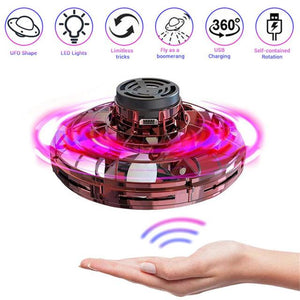 Flynova UFO Flying Fidget Spinner Hand Operated Mini Drone Induction Aircraft Toys