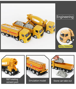 Alloy Engineering Truck Cars Toys for Kids Over 3 Years Old