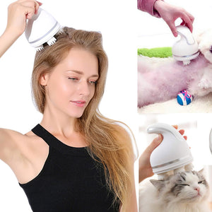 woman with pet clean Massager