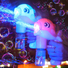 Load image into Gallery viewer, Dolphin Magic Flashing Light Up Bubble Machine Toy