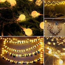 Load image into Gallery viewer, LED Warm White Ball Fairy Lights