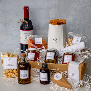 Nibbles Basket is a delightful socially responsible gift for the holidays or any occasion. With carefully curated items, that empower women and refugee communities, it is meant to fit anyone's pantry.