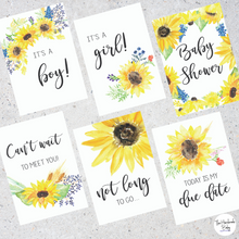 Load image into Gallery viewer, Sunflower Pregnancy Milestone Cards