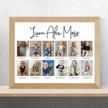 Load image into Gallery viewer, Baby's First Year Photo Collage