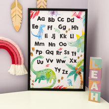 Load image into Gallery viewer, Dinosaur Alphabet Print