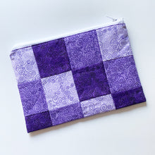 Load image into Gallery viewer, Waterproof Bag - Purple Patchwork Design