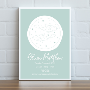 Zodiac Signs - Personalised Print