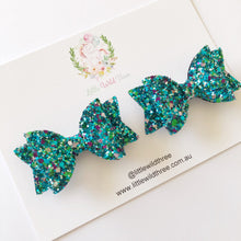 Load image into Gallery viewer, Mermaid Glitter Dolly Pig Tail Set