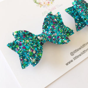Mermaid Glitter Dolly Pig Tail Set