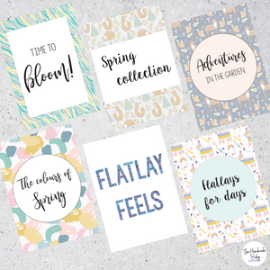 Mixed Spring Flatlay Cards