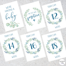Load image into Gallery viewer, Floral Pregnancy Milestone Cards