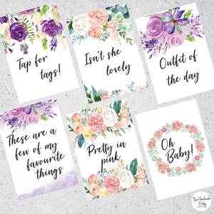 Floral Watercolour Flatlay Cards