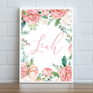 Sweetheart Floral Name Print