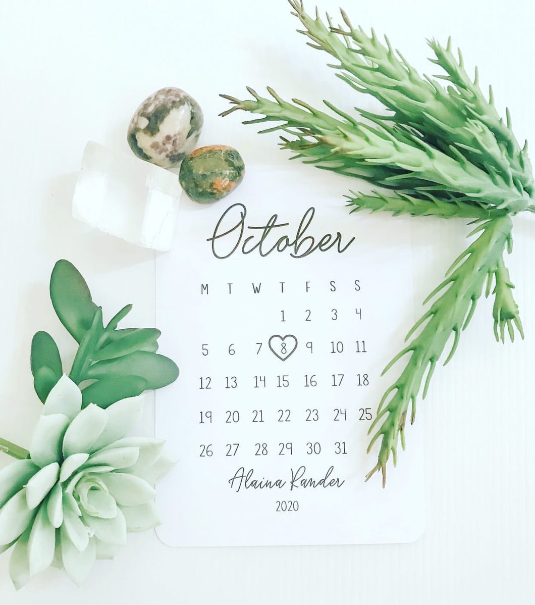 Pregnancy Due Date Announcement Cards