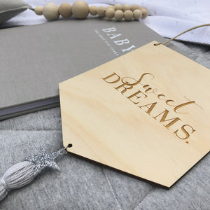 Sweet Dreams Wooden Banner