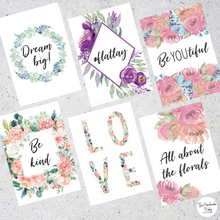 Load image into Gallery viewer, Floral Watercolour Flatlay Cards