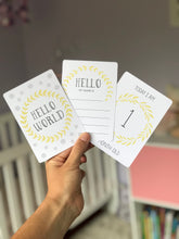 Load image into Gallery viewer, Yellow and Grey Baby Milestone Cards
