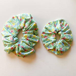 Mummy & Me Matching Scrunchies - Green Floral