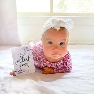 Purple Floral Baby Milestone Cards