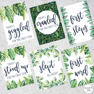 Tropical Baby Milestone Cards