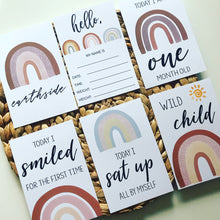 Load image into Gallery viewer, Boho Rainbow Baby Milestone Cards