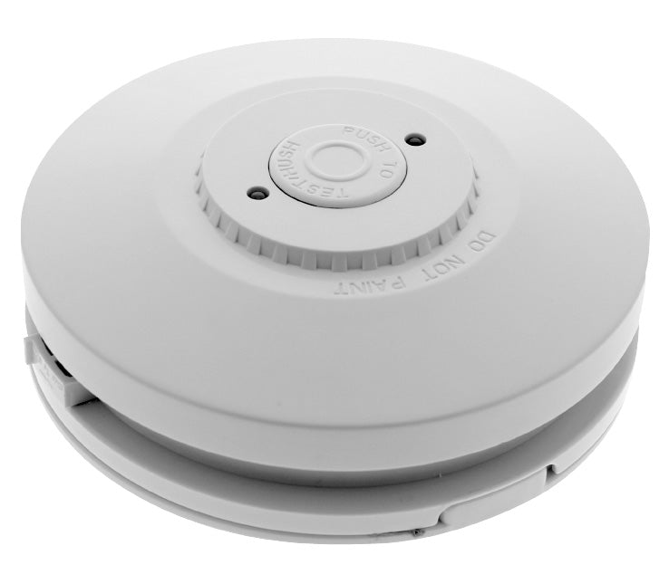 Red 240v PE smoke alarm with rechargeable battery - MiFire & Safety