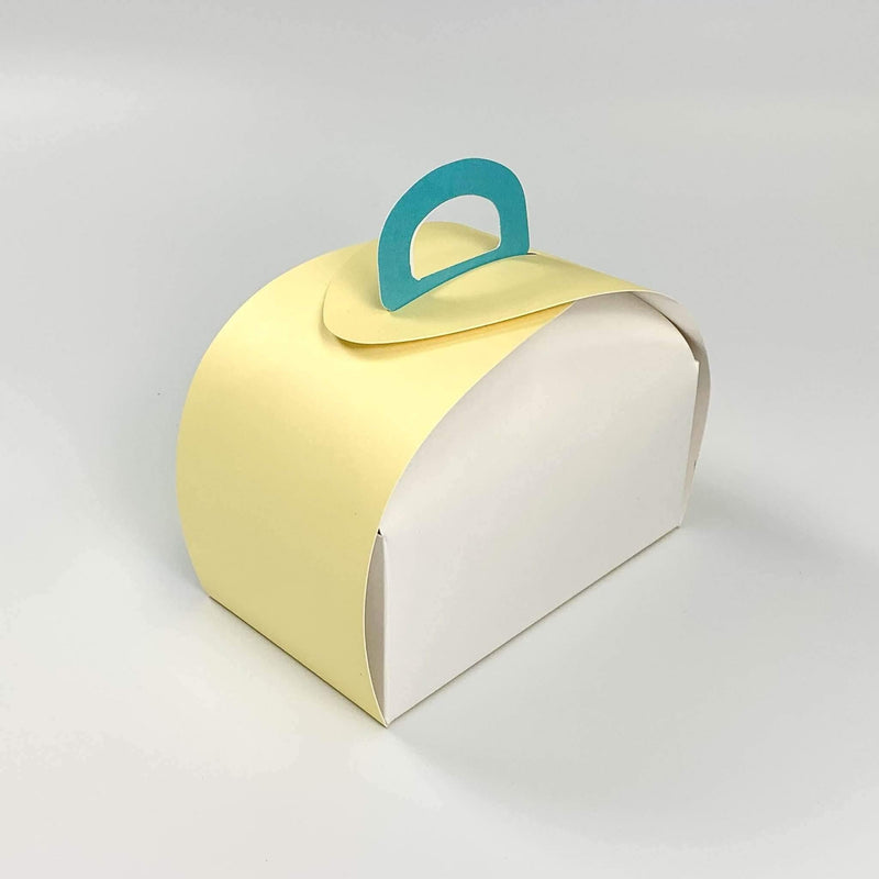 "Pastel Dome Bakery Box with Handle 6.5 x 3.9 x 4.7"" - Pouches & More"