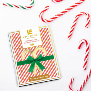 Candy Cane Peppermint White Chocolate Bar
