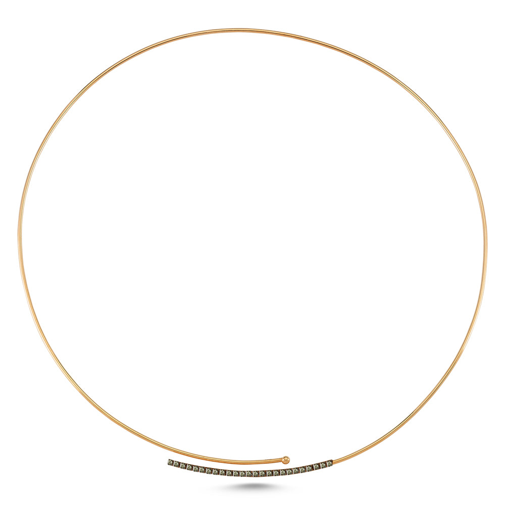 Gold Choker Necklace with Diamonds