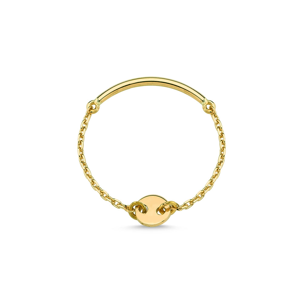 Gold Round Chain Ring