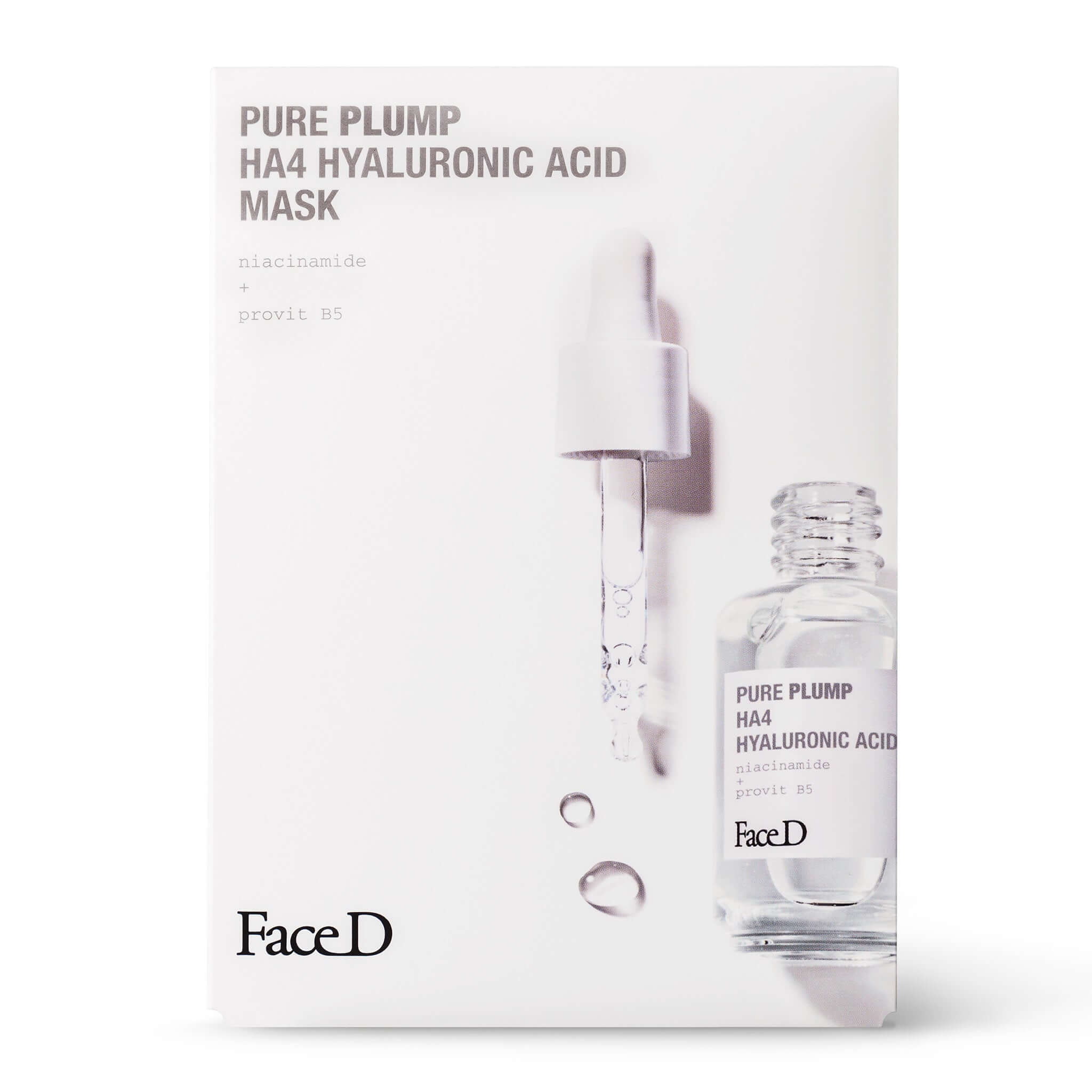 Pure-Plump-Ha4-Hyaluronic-Acid-Face-Mask-5-Pieces-FaceD-Moisturisers || Maschera-Viso-acido-ialuronico-Pure-Plump-HA4-5-pezzi-FaceD-idratazione