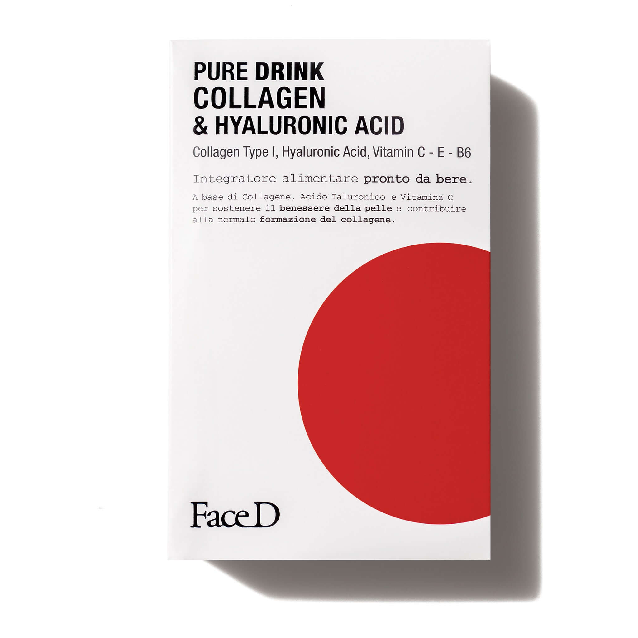 Pure-Drink-Collagen- Hyaluronic-Acid-FaceD-Moisturisers || Pure-Drink-Collagene-Acido-Ialuronico-Integratore-alimentare-FaceD-idratazione