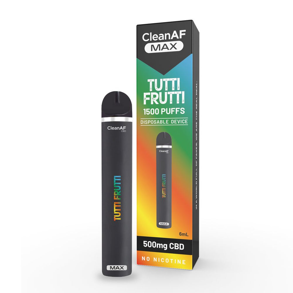 CleanAF Max Tutti Fruitti CBD Disposable 500mg freeshipping - Kanep CBD