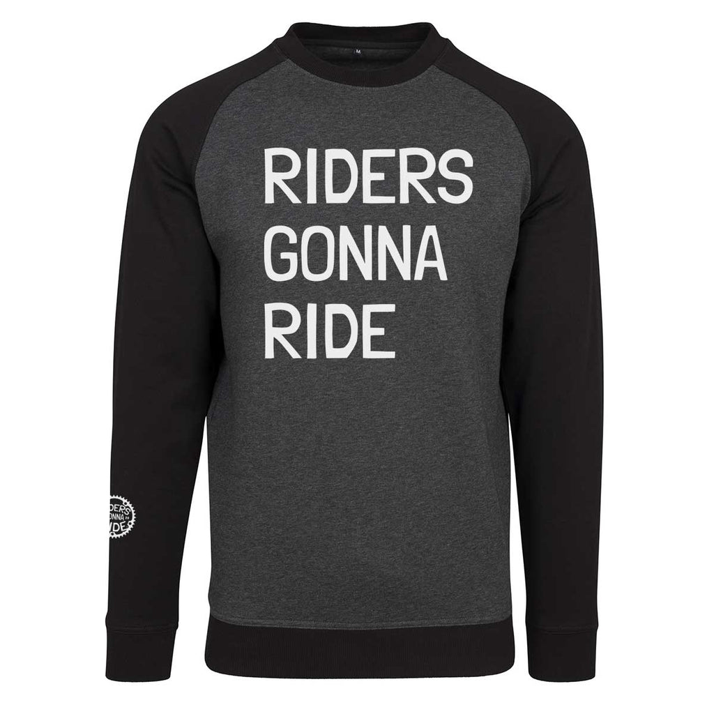 RIDERS GONNA RIDE® Crew Neck Sweater Raglan LOGO - RIDERS GONNA RIDE®