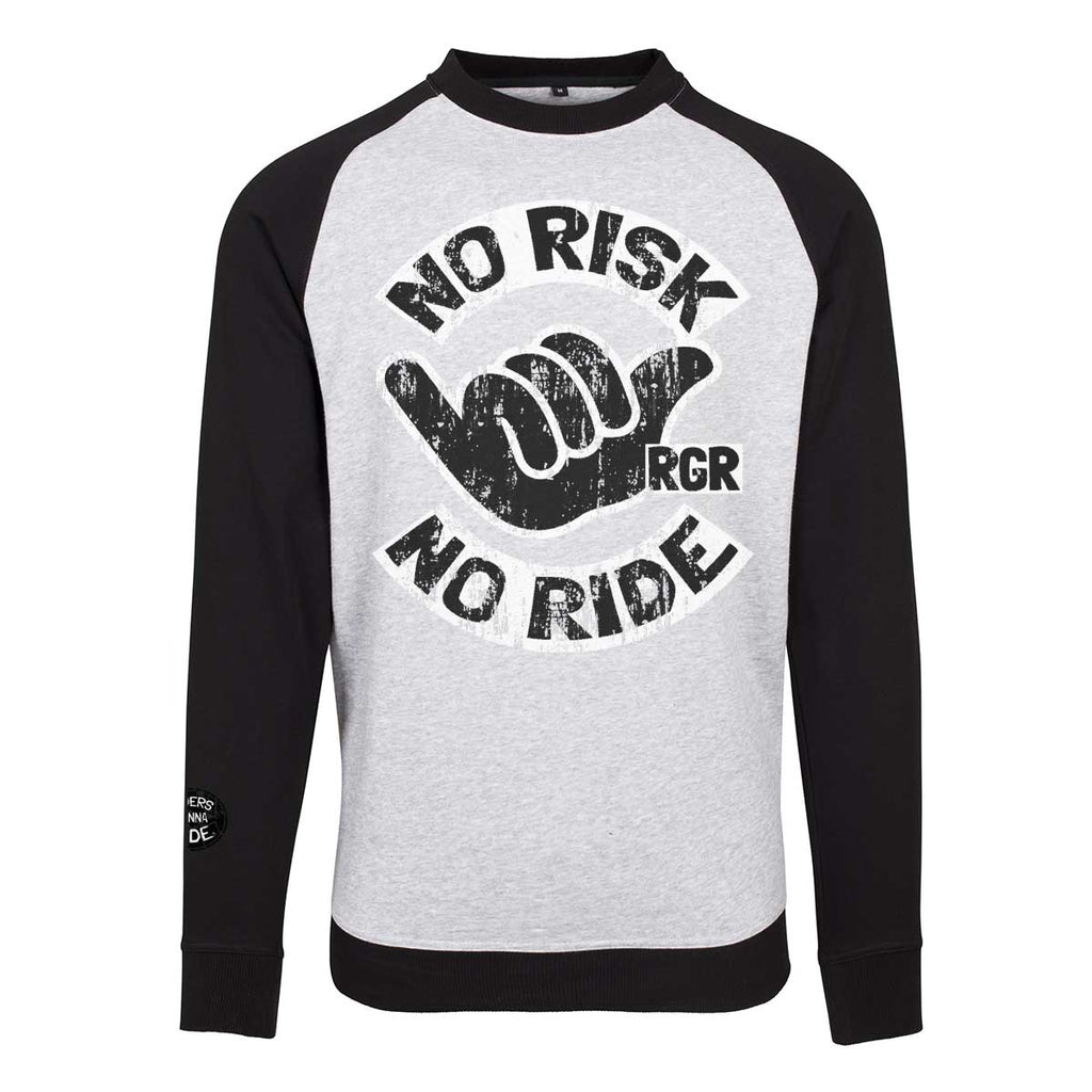 RIDERS GONNA RIDE® Crew Neck Sweater Raglan NO RISK - RIDERS GONNA RIDE®