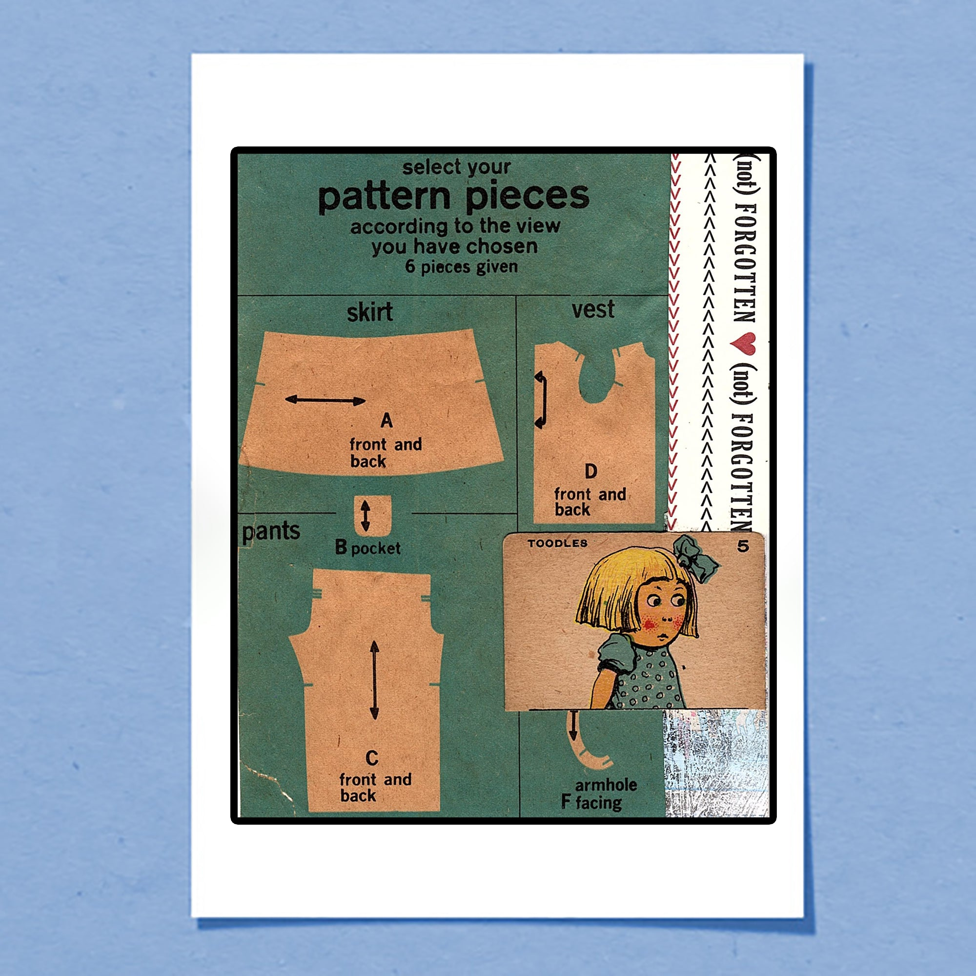 Pattern Pieces | Greeting Card