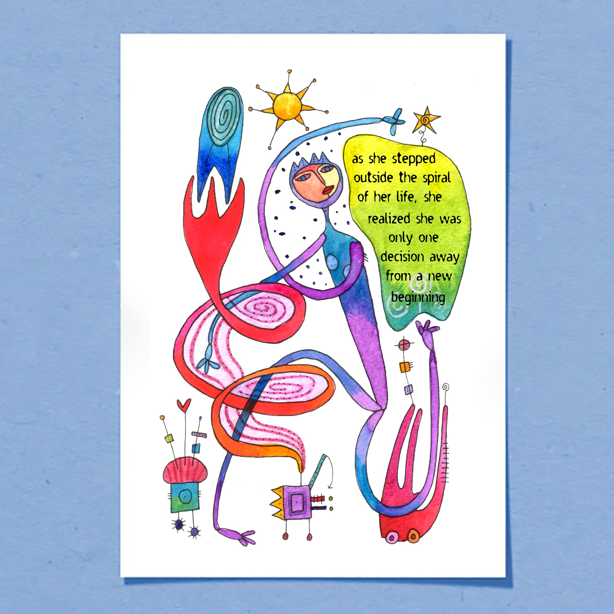 Life Spiral | Greeting Card