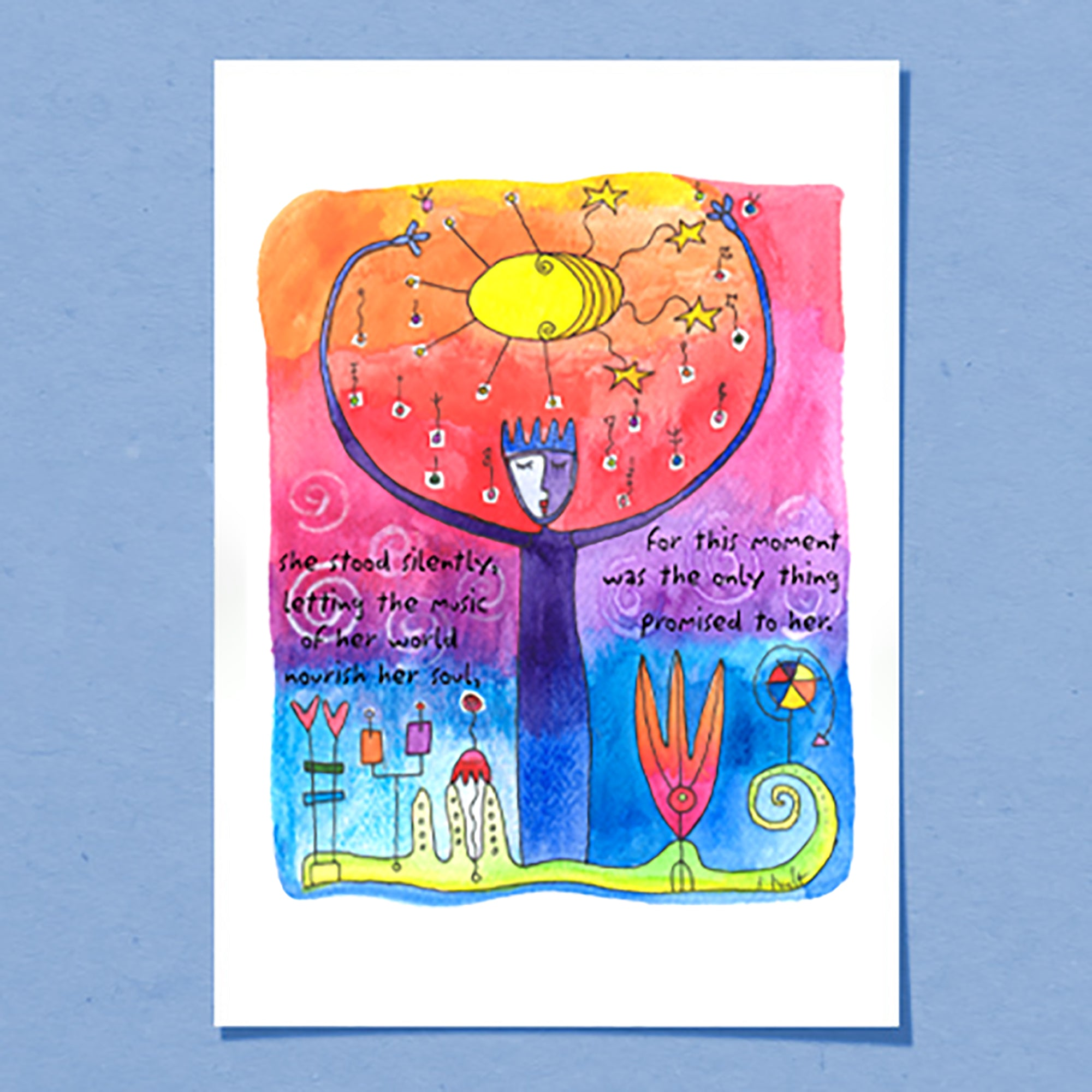 Music Of Her World | Greeting Card
