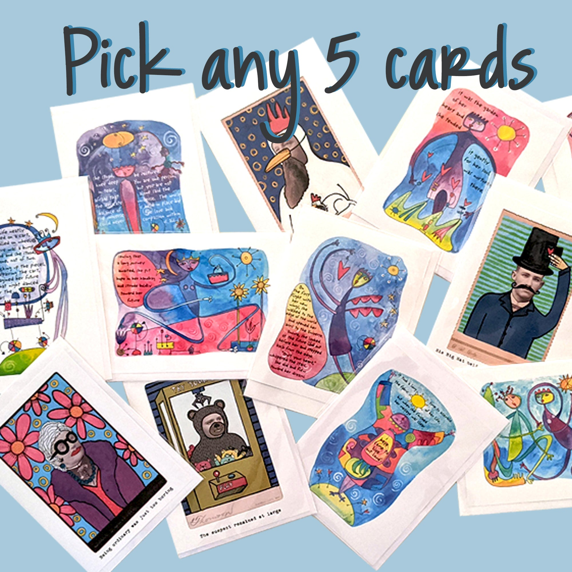 Pick any 5 greeting cards
