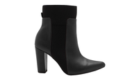 Women's Pointed Toe Block Heel Zipper Ankle Boots