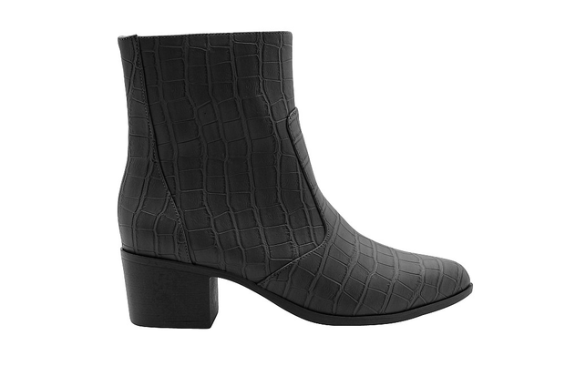 Women's Low Heel Chunky Ankle Boots Winter Shoes